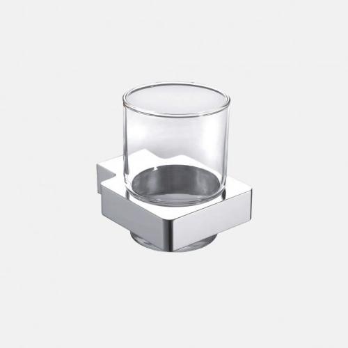 Хромирана поставка за чаша от стъкло
