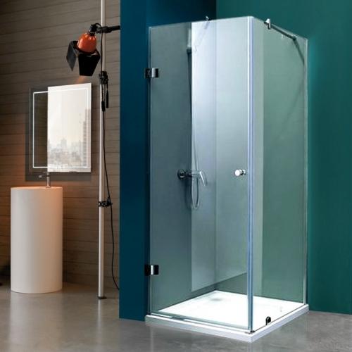 90/90 Квадратна душ кабина с матирано стъкло