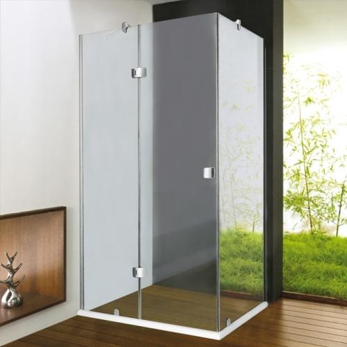 80/100 Квадратна душ кабина с прозрачно стъкло