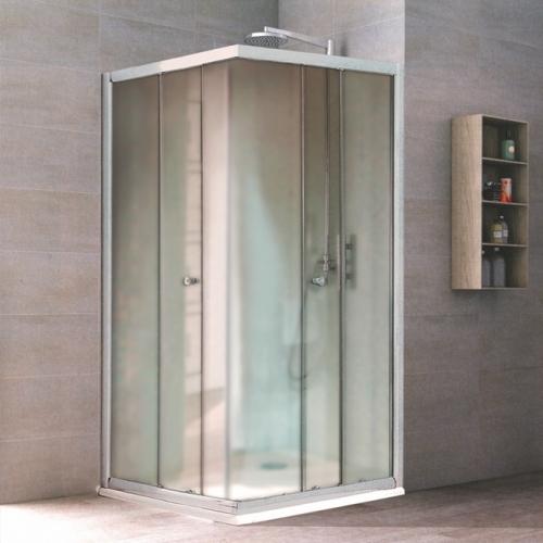 100/100 Квадратна душ кабина с прозрачно стъкло