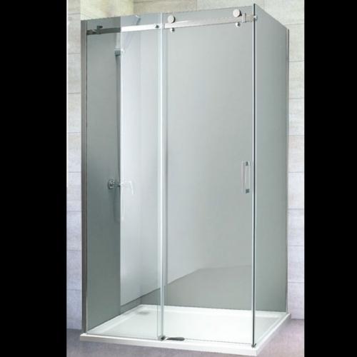 100/80/200 Асиметрична душ кабина с плъзгаща врата