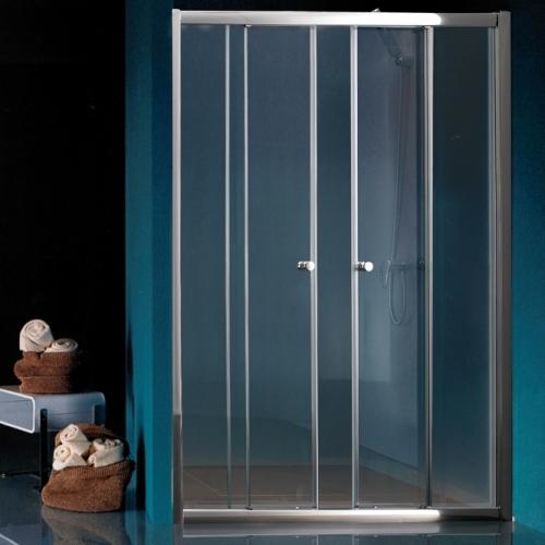 Параван с две плъзгащи врати с прозрачно стъкло