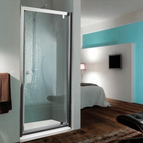 Параван с една плъзгаща врата с прозрачно стъкло