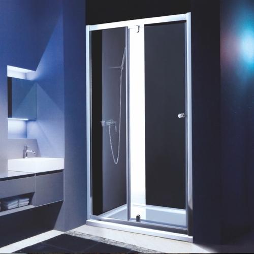 Параван с една отваряема врата с матирано стъкло
