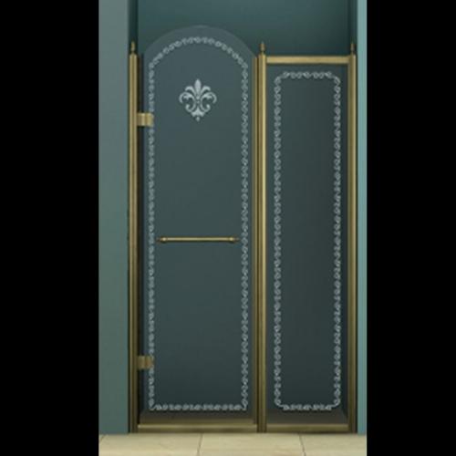 140/195 Параван с отваряема дясна врата - хром
