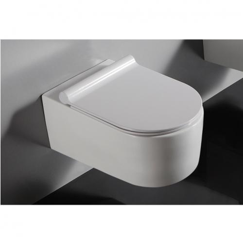 Окачен тоалет с плавнопадащ капак