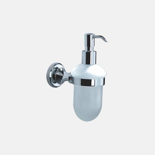 Хромиран диспенсър в стъкло за баня
