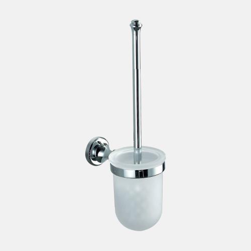 Окачена четка за баня в хром и стъкло