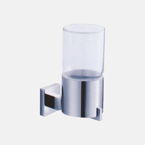 Хромирана поставка за чаша в стъкло