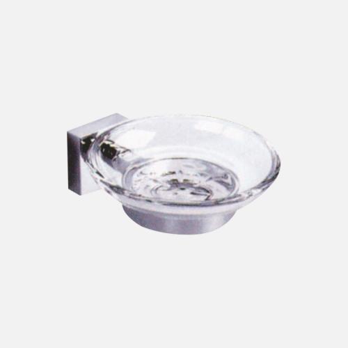 Поставка за сапун от хром и стъкло