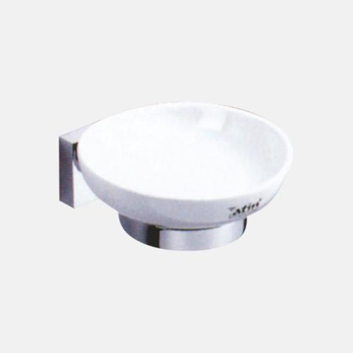 Порцеланова сапунерка с хромиран държач