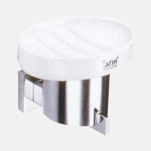 Порцеланова сапунерка с хромирано покритие