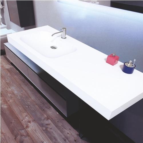 Окачена мивка (дясна) с огледало