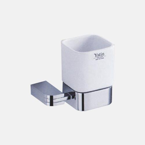 Порцеланова чаша за баня с хромиран държач