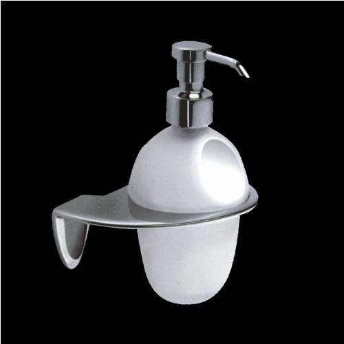 Диспенсър за баня в хром и стъкло