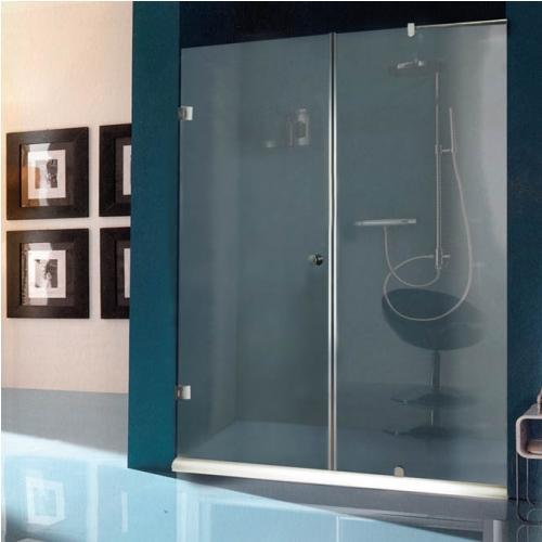 100/185Параван с една отваряема врата с прозрачно стъкло