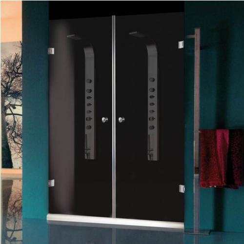 140/185  Параван с две отваряеми врати с матирано стъкло