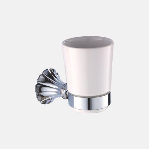 Поставка за чаша от хром и порцелан