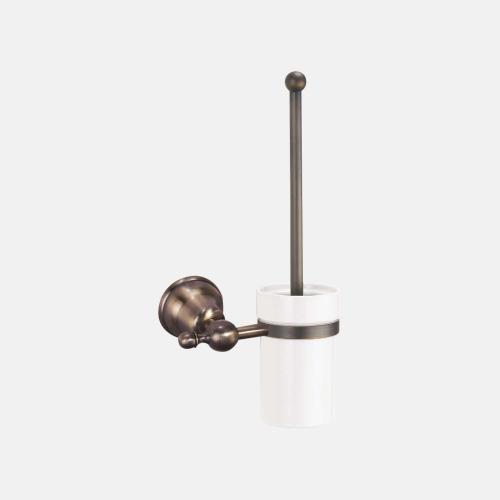 Окачена четка за тоалетна от порцелан с бронзов държач