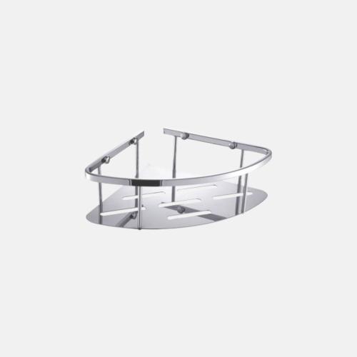 Ъглова поставка за баня с хромирано покритие