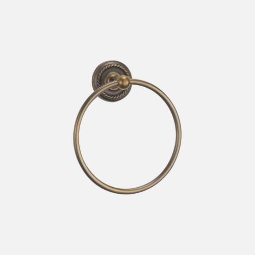 Държач за хавлии тип обръч с бронзово покритие