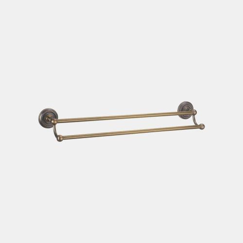 Двоен неподвижен държач за хавлии с бронзово покритие