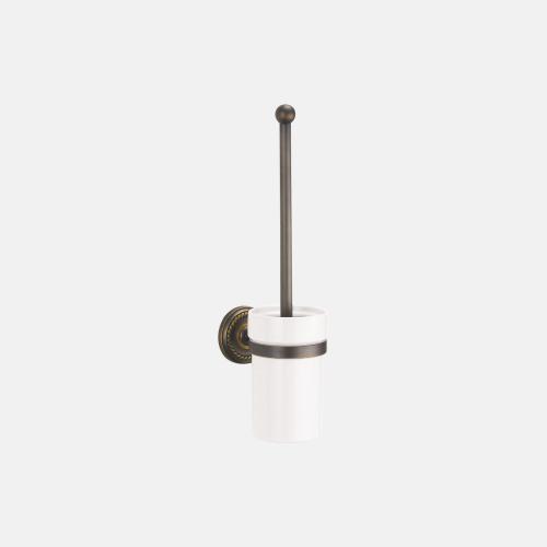 Окачена порцеланова четка за тоалетна с бронзово покритие