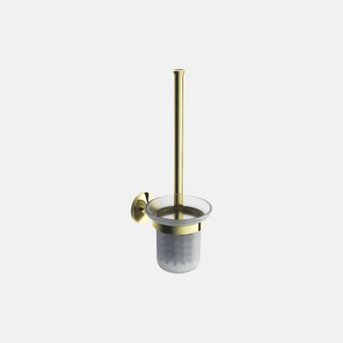Стъклена окачена четка за тоалетна в златист цвят