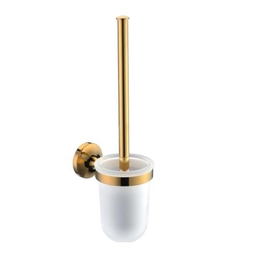 Порцеланова окачена четка за тоалетна с хромиран държач