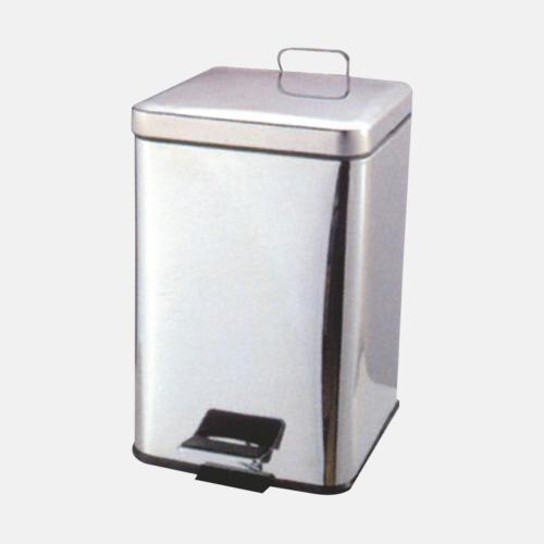 Квадратен кош за боклук с хромирано покритие