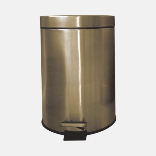 Кош за боклук 5 литра с бронзово покритие