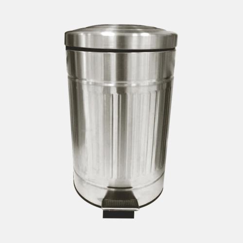 Кош за боклук с метално матирано покритие, 12 литра