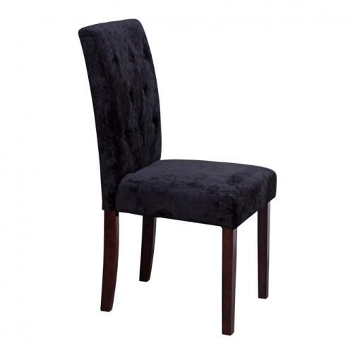 Трапезарен стол с плюшена дамаска
