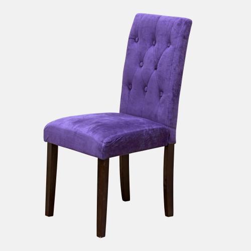 Трапезарен стол с капитонирана, плюшена дамаска