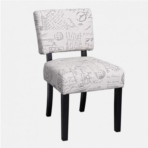 Трапезарен стол с дамаска с надписи