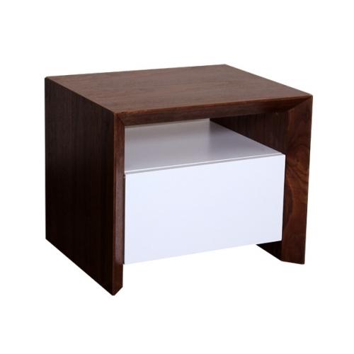Нощно шкафче в цвят орех