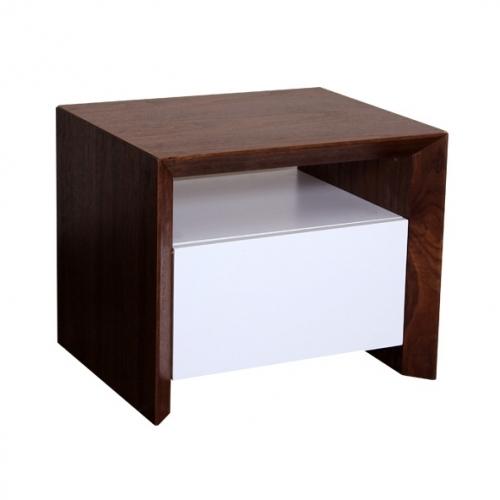 Нощно шкафче в цвят таупе