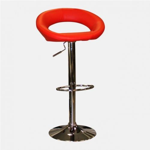 Червен бар стол от кожа
