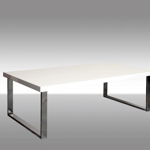 Модерна холна маса в бял лак