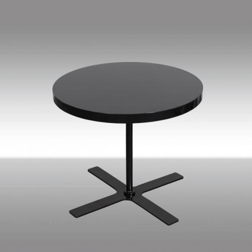 Кръгла холна маса в черен цвят