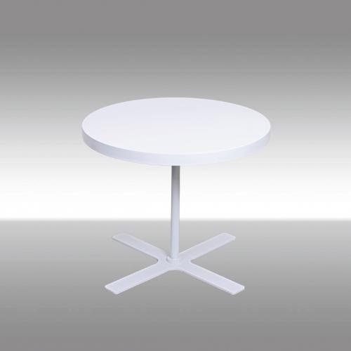 Кръгла холна маса в бял цвят