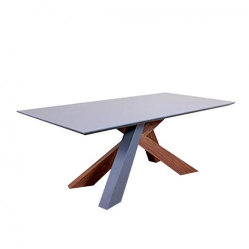 Трапезарна маса в тъмно сив мат