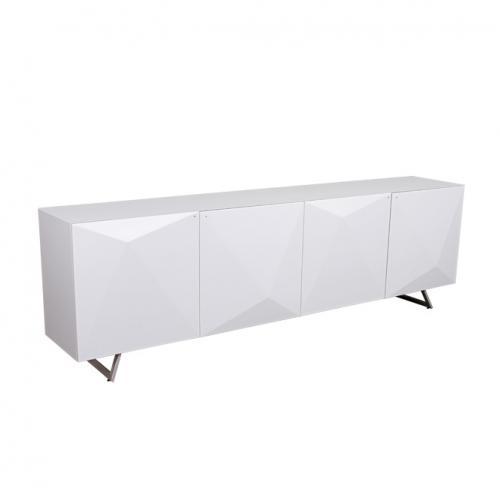 Бял трапезарен шкаф