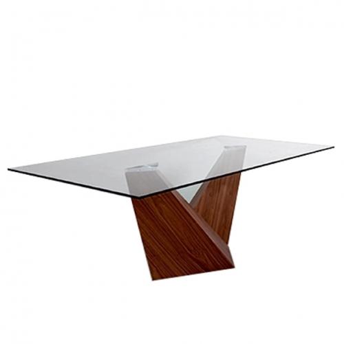 Трапезарна маса със стъклен плот