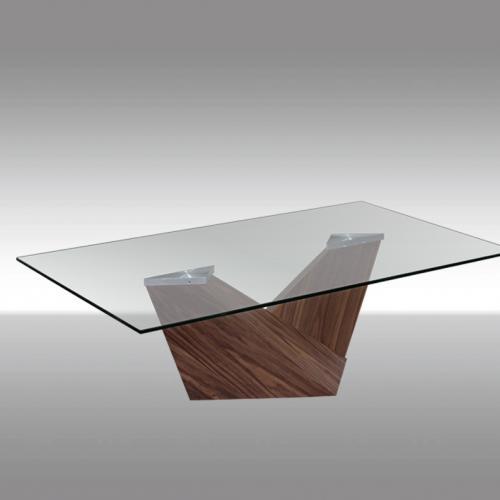 Холна маса със стъклен плот