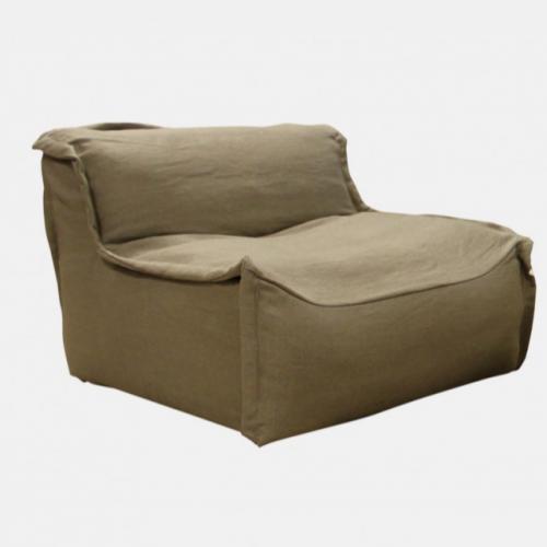 Сив комфортен фотьойл в модерен стил