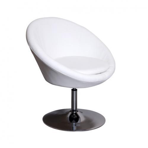 Бял кожен стол