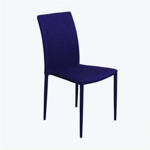 Трапезарен стол с метални крака и облечени гръб и седалка