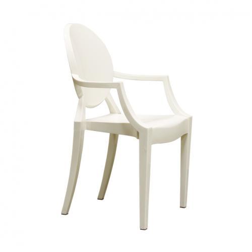 Бял трапезарен стол