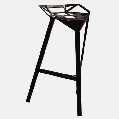 Алуминиев бар стол в черен цвят